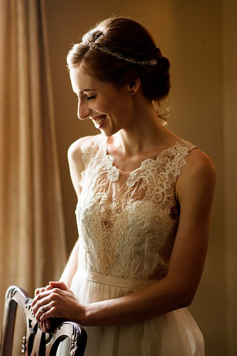 Portrait of a bride on her wedding day.