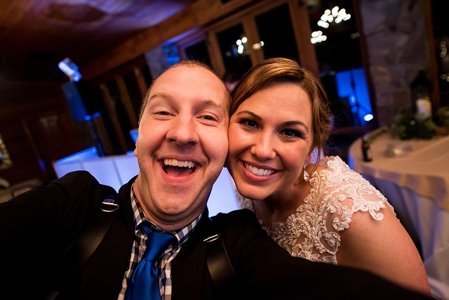 Fun Philadelphia Wedding photographer Dan Moyer and bride on her wedding day.
