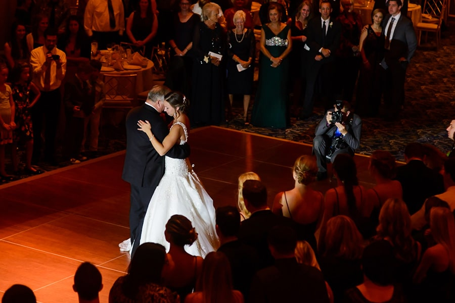 Philadelphia Wedding Photographer Daniel Moyer capturing a father daughter dance.