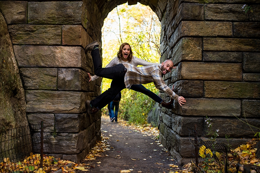 Silly engaged couple outtakes.