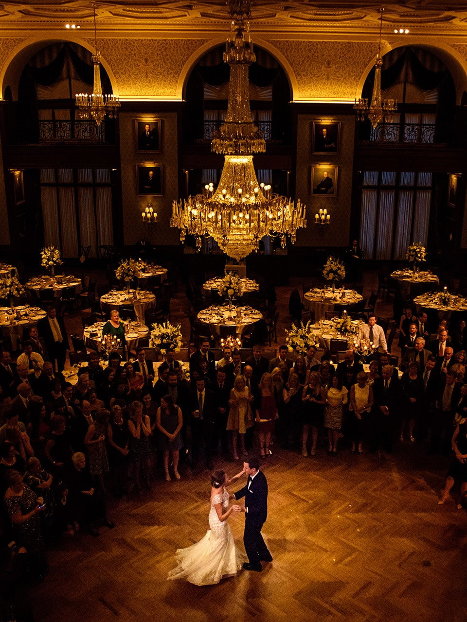 Bride & Groom during their first dance at the Union League in Philadelphia, PA.