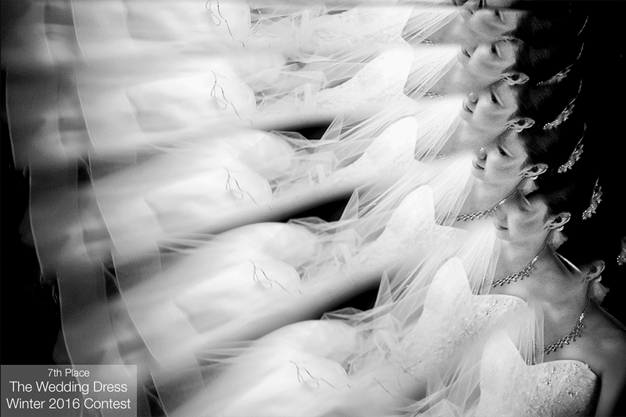 "Winning image in the ISPWP 2016 Winter contest in the category of ""Wedding Dress."""